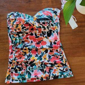 NWT Anne Cole Tankini Style strapless swim top!